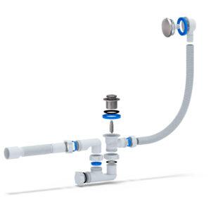 Сифон АНИ для ванны регулируемый с выпуском